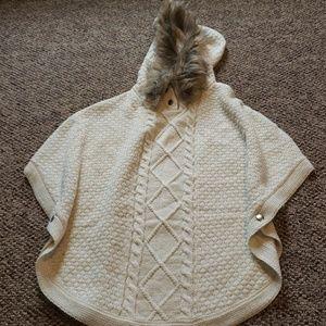 NWOT Hooded Fur Cardigan